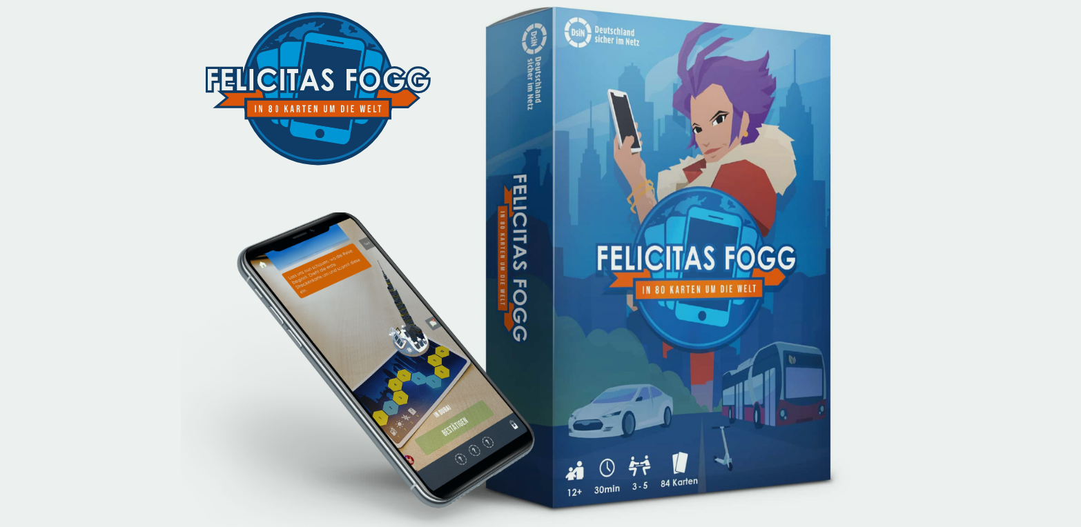 Felicitas Fogg Cardbox und Smartphone Mockup