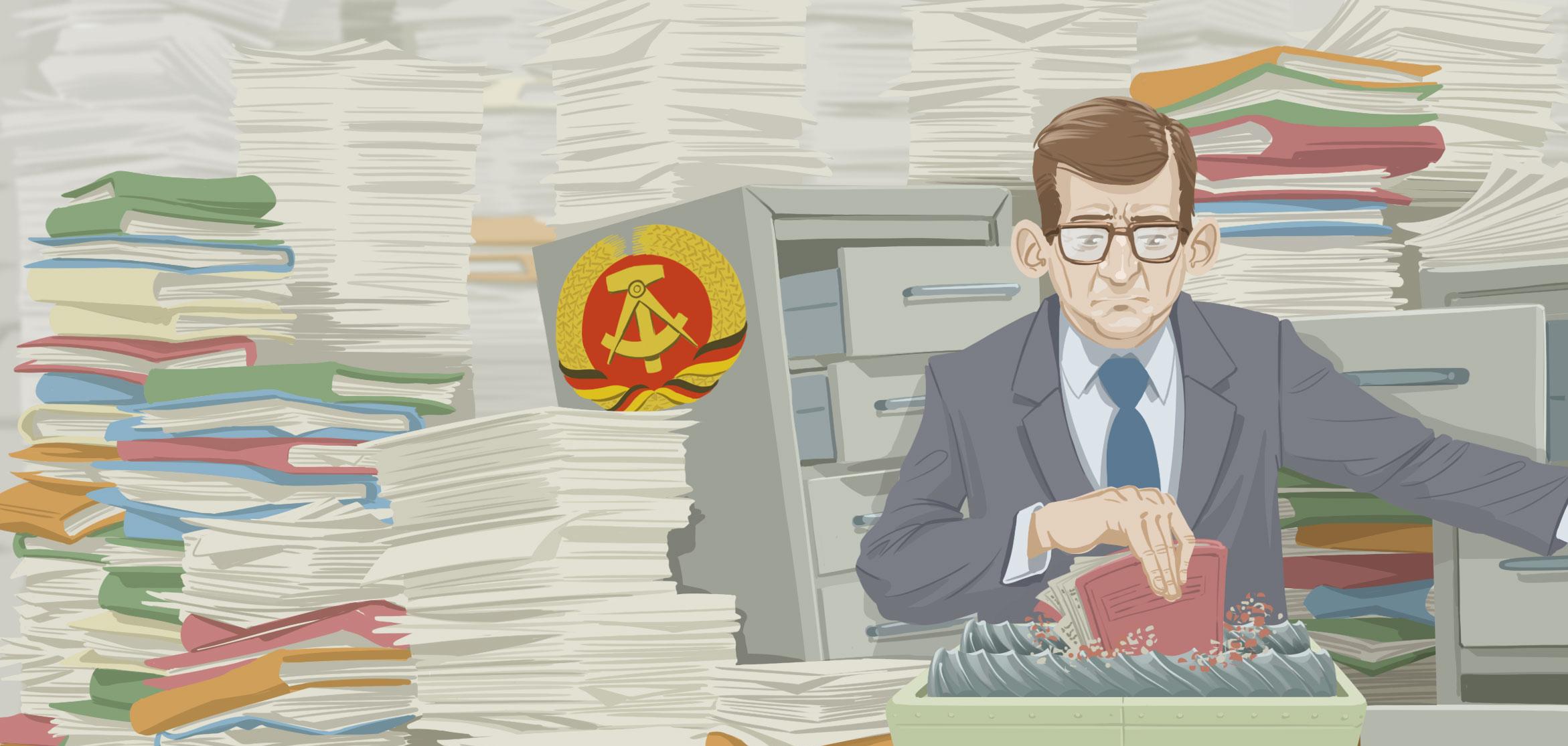 Stasi raus - es ist aus - Karten