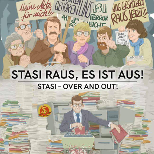 Stasi raus, es ist aus Portfolio Cover-Bild