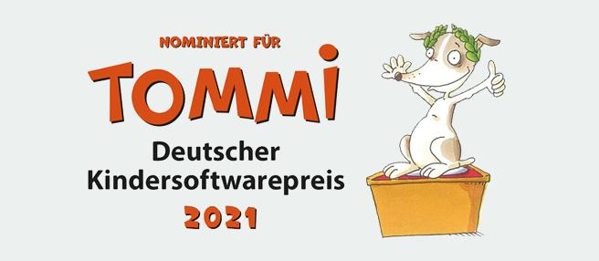 Nominiert für Tommi Deutscher Kindersoftwarepreis 2021